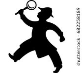 detective holding a magnifying... | Shutterstock .eps vector #682258189