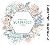 superfood hexagon banner  color ... | Shutterstock .eps vector #682258846