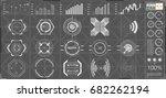 abstract hud. futuristic sci fi ... | Shutterstock .eps vector #682262194