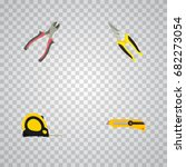 realistic length roulette ... | Shutterstock .eps vector #682273054