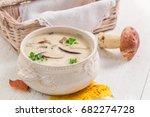 tasty boletus cream with... | Shutterstock . vector #682274728
