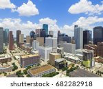 aerial view houston downtown... | Shutterstock . vector #682282918