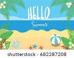 hello summer vector. | Shutterstock .eps vector #682287208