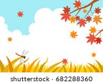 autumn landscape with maple... | Shutterstock .eps vector #682288360