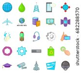 technology icons set. cartoon... | Shutterstock .eps vector #682288570