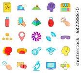 mobile internet icons set.... | Shutterstock .eps vector #682288870