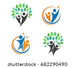 fun people healthy life logo... | Shutterstock .eps vector #682290490
