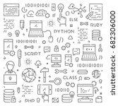 modern line web concept for... | Shutterstock .eps vector #682306000