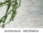 the wall is made of brick and... | Shutterstock . vector #682306816