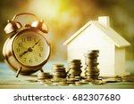 pile of money  coins  growing...   Shutterstock . vector #682307680
