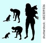 dog training pet animal... | Shutterstock .eps vector #682309336