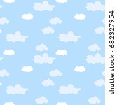 blue sky with clouds  vector... | Shutterstock .eps vector #682327954