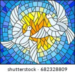 illustration in stained glass... | Shutterstock .eps vector #682328809