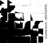 abstract grunge texture black... | Shutterstock . vector #682332994