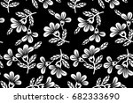 floral pattern vector | Shutterstock .eps vector #682333690