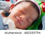 newborn baby sleeping. | Shutterstock . vector #682335754