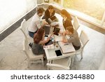 young business people meeting... | Shutterstock . vector #682344880