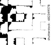 grunge abstract black and white ... | Shutterstock . vector #682349578