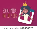 social media influencer concept | Shutterstock .eps vector #682350520