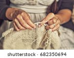 close up of an adult woman with ... | Shutterstock . vector #682350694