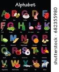 vector alphabet letter a to z... | Shutterstock .eps vector #682355980