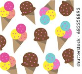 seamless colorful ice cream... | Shutterstock .eps vector #682358893