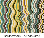 abstract stripes texture  wavy... | Shutterstock .eps vector #682360390