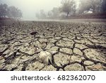 dried watercourse. dried mud in ... | Shutterstock . vector #682362070