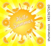 hello summer illustration... | Shutterstock .eps vector #682367260