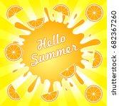 hello summer illustration... | Shutterstock .eps vector #682367260