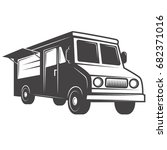 food truck emblem isolated on... | Shutterstock .eps vector #682371016