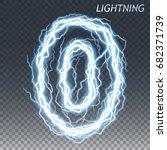 lightning and thunder bolt or...   Shutterstock .eps vector #682371739