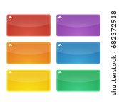 set of six colorful rounded...