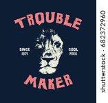 lion head. hand drawn...   Shutterstock .eps vector #682372960