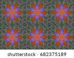 illustration of floral seamless ... | Shutterstock . vector #682375189