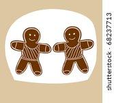 hand drawn zodiac sign. gemini | Shutterstock .eps vector #68237713