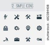 vector illustration set of... | Shutterstock .eps vector #682384408