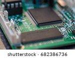 computer chip close up. hi tech ... | Shutterstock . vector #682386736
