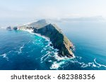 Small photo of Cape Point and Cape of good hope (South Africa) aerial view shot from a helicopter