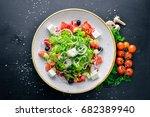 greek salad of fresh vegetables ...