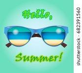 web banner for summer sale ... | Shutterstock .eps vector #682391560