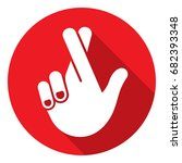 hand gestures for crossed... | Shutterstock .eps vector #682393348