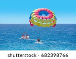 Colorful Parasail Wing Pulled...