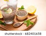 healthy breakfast with chia...   Shutterstock . vector #682401658
