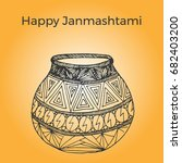 happy janmashtami. indian fest. ...