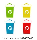 set of recycling bins vector... | Shutterstock .eps vector #682407400