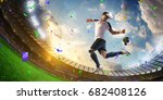 soccer player virtual reality... | Shutterstock . vector #682408126