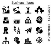 business concept icons | Shutterstock .eps vector #682410394
