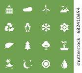 set of 16 natural icons set...