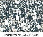 illustration of protesting...   Shutterstock .eps vector #682418989